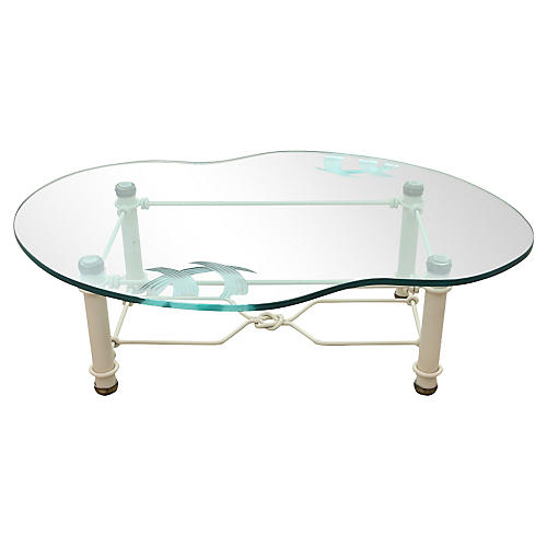 Etched-Glass Coffee Table