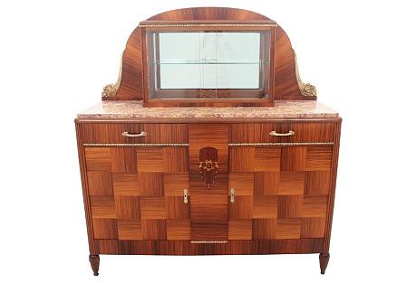 Art  Deco Marble-Top Buffet