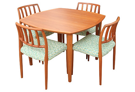 J.L. Moller-Hojberg Game Table & Chairs