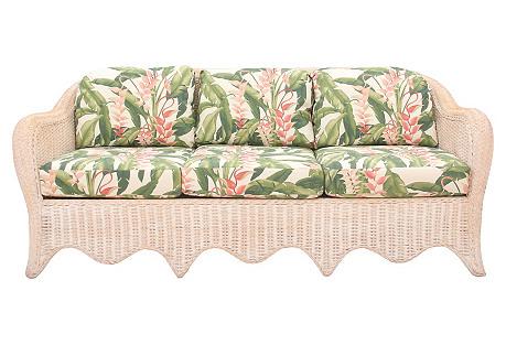 Tropical Wicker Sofa