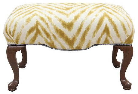 Queen Anne Upholstered Ottoman