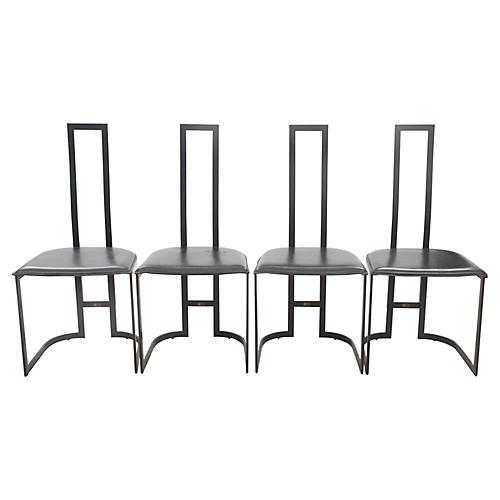 Italian Art Deco Chairs, S/4