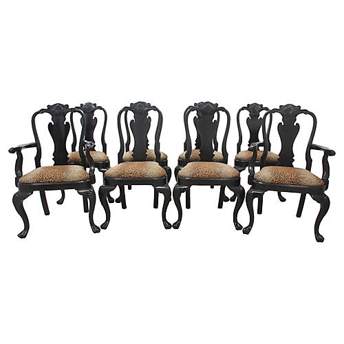 Queen Anne Style Dining Chair, S/8