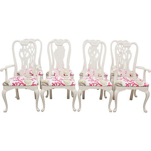Thomasville Queen Anne Chairs, S/8