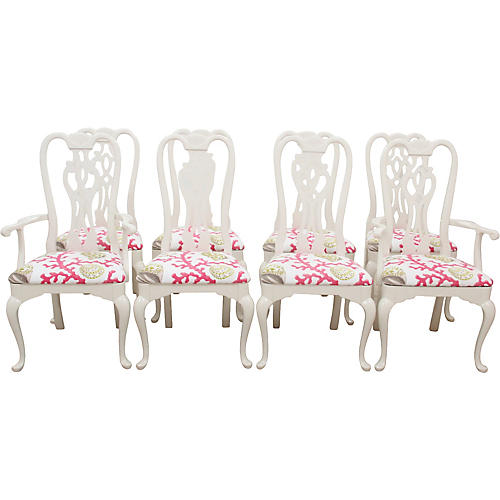 Thomasville Queen Anne Chairs, S/8