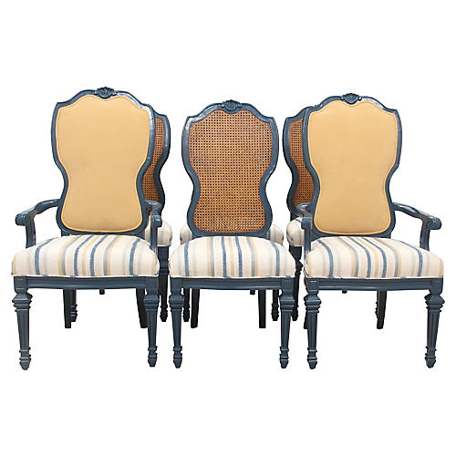 French Provincial Dining Chairs, S/6