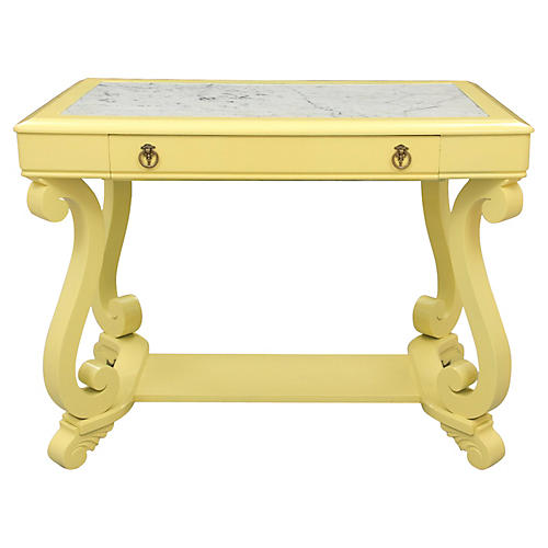 Neoclassical-Style Marble-Top Hall Table
