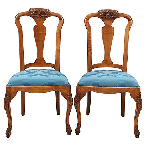Provençal-Style Side Chairs, Pair