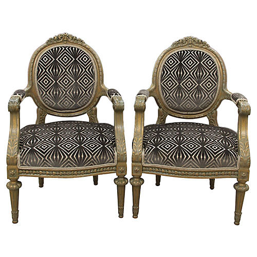 Antique Louis XVI Style Parlor Chairs
