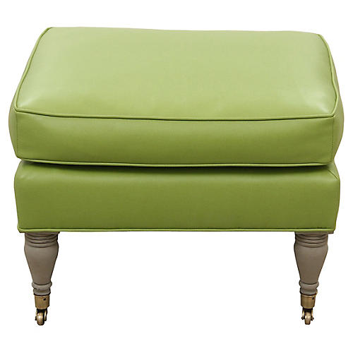 French Style Apple Faux Leather Stool