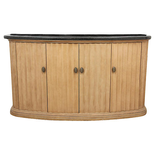 Contemporary Style Marble Top Sideboard