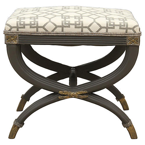 Neoclassical Style Curule Bench