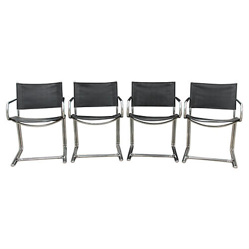 Midcentury Modern Dining Chairs, S/4