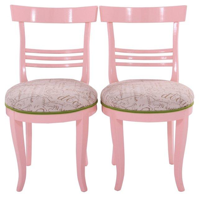 Modern Side Chairs w/ Kravet Fabric