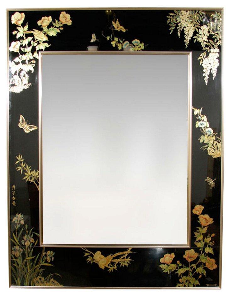 La Barge Reverse-Painted Glass Mirror