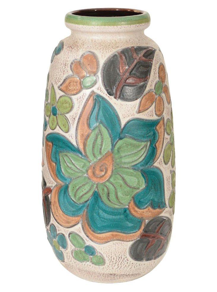 XL Floral German Vase