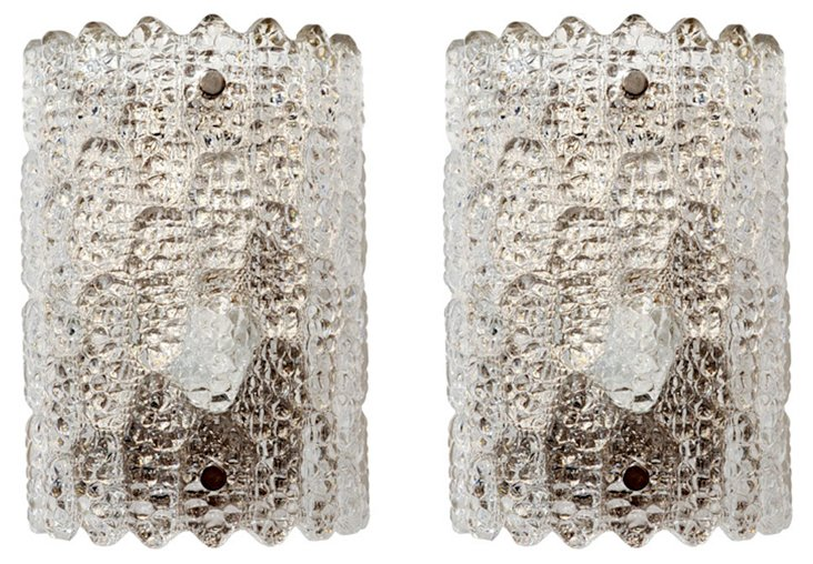 Carl Fagerlund Crystal Sconces, Pair