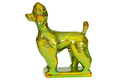Zsolnay Poodle Figure