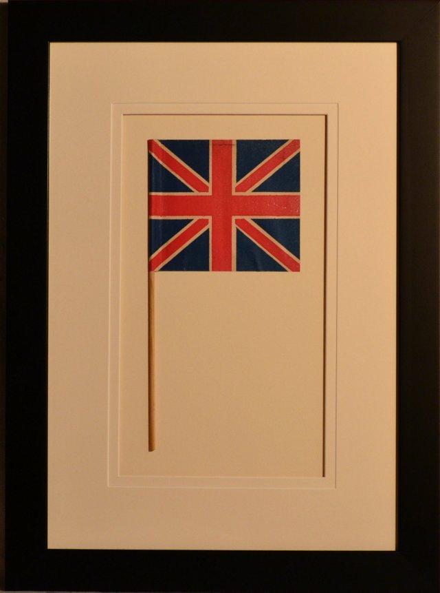 WWII Framed British Flag, C. 1945