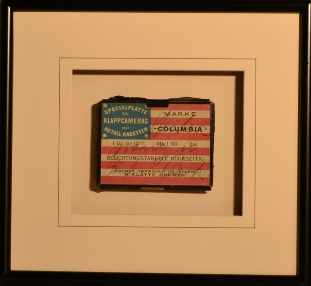 Framed Antique Flag Box