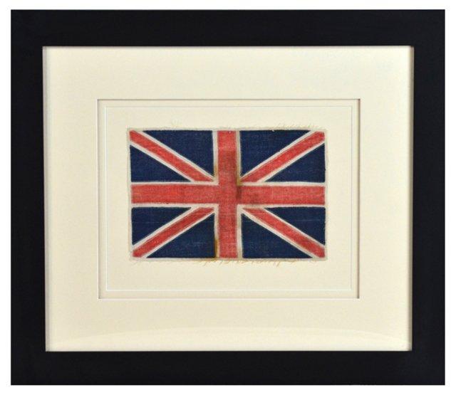 Framed Antique British Flag