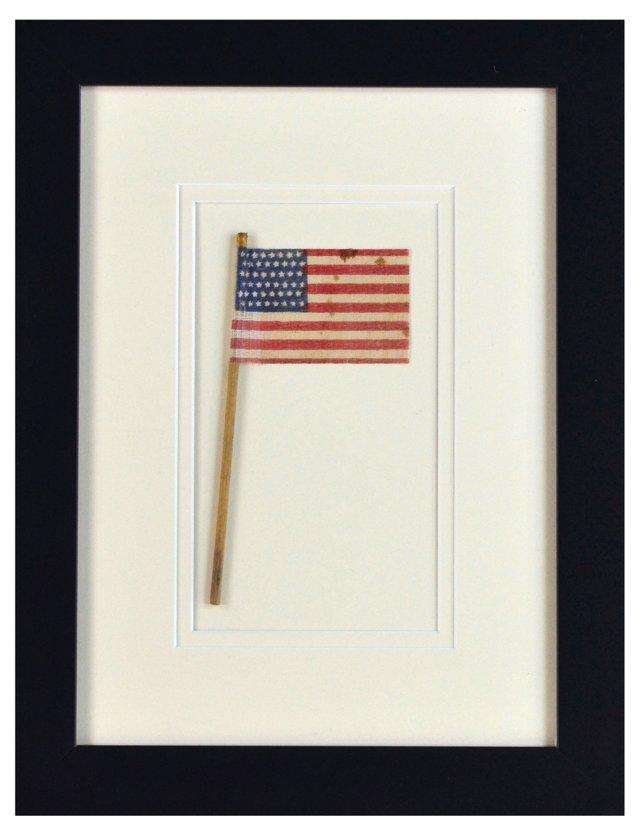 48-Star Flag w/   Stick c-1912