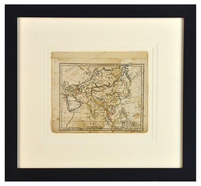 Antique Map of Asia, 1814