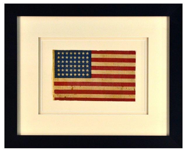 A Framed 48-Star Flag