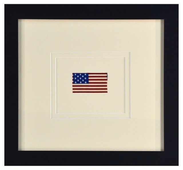 Framed Silk Flag, 1876
