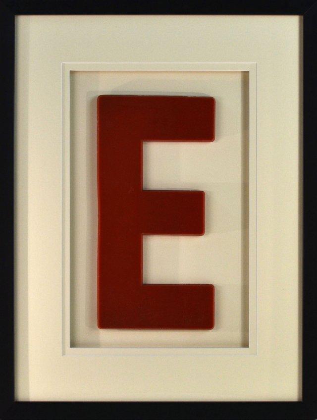 Large Framed 1960s Letter
