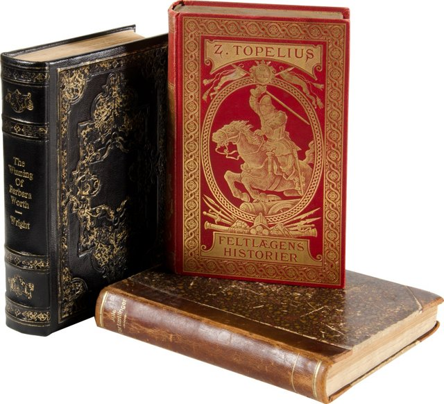 Leather-Bound Books, S/3