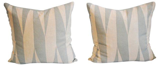 Victoria Hagan Linen Pillows, Pair