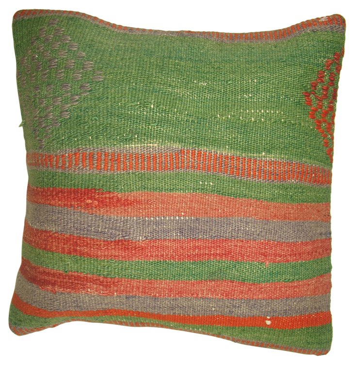 Green Kilim     Pillow