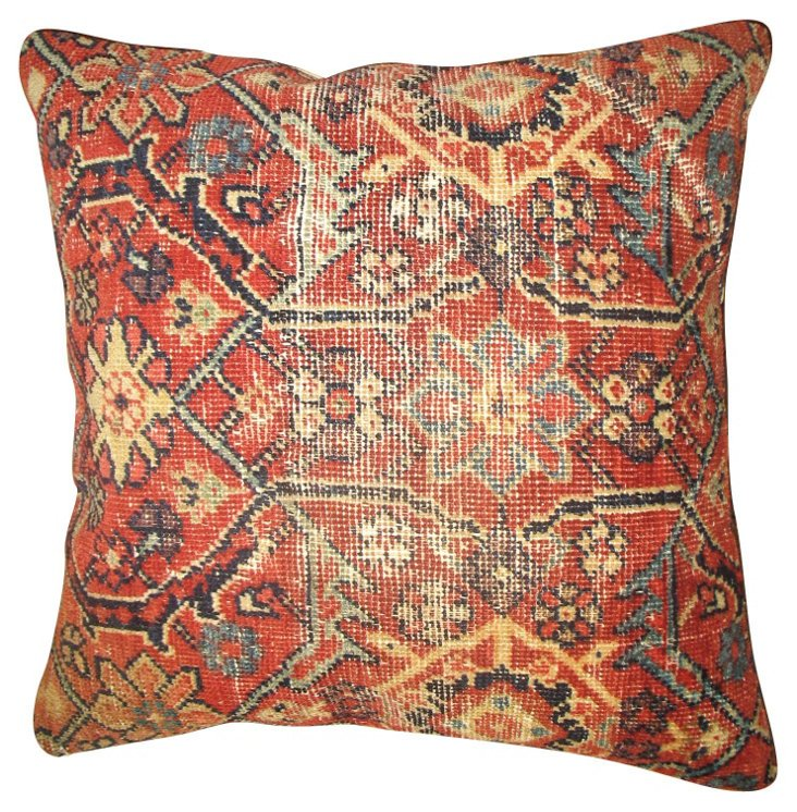 Red Sultanabad Pillow