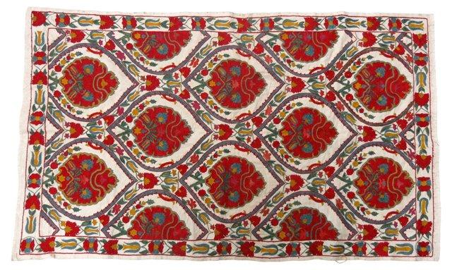 Ivory & Red Suzani