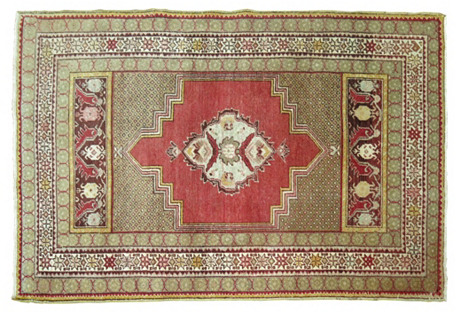 Turkish Oushak Rug, 5'6'' x 3'4''