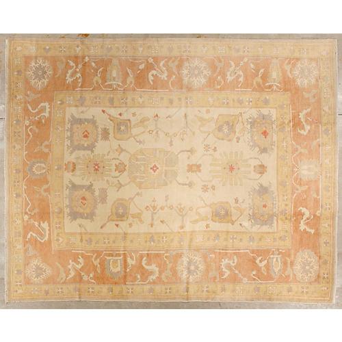 Oushak Carpet, 12'8'' x 10'
