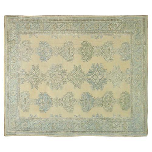 Antique Oushak Carpet, 11'8'' x 9'1''