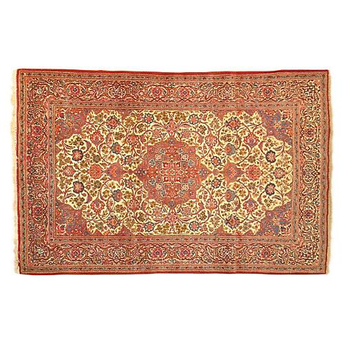 Antique Kashan Rug, 6'9'' x 4'3''