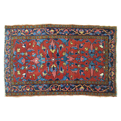 Antique Heriz Rug, 4'2'' x 2'7''