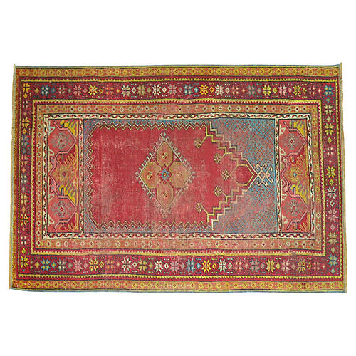 Turkish Melas Rug, 4'9'' x 2'11''