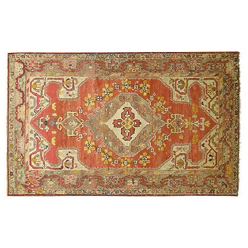 Turkish Oushak Rug, 4'2'' x 6'8""