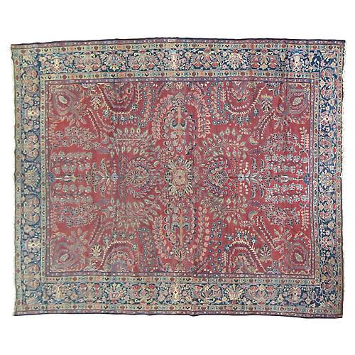 "Sarouk Fereghan Carpet, 9' x 12'2"""