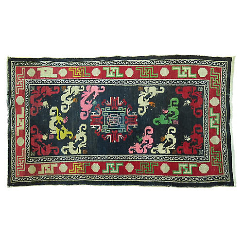 Antique Tibetan Rug, 2'8'' x 5'2''