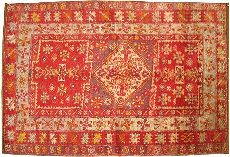 Red Turkish Sivas Rug, 3' x 4'6