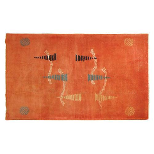 Turkish Deco Rug, 4' x 6'6''
