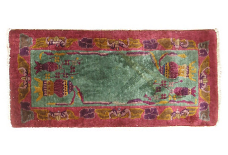 Chinese Art Deco Rug, 1'9'' x  3'9''