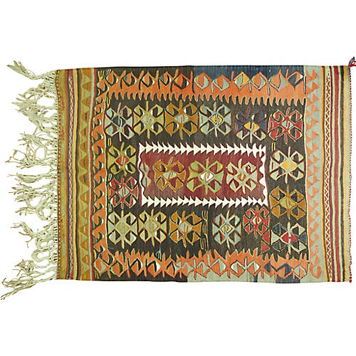 Turkish Kilim, 3'10'' x 4'10''