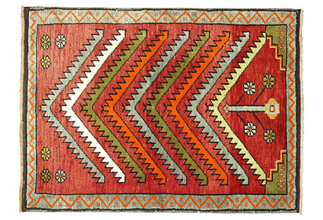 Turkish Prayer Rug, 2'4'' x 3'3''