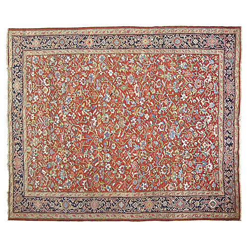 Antique Persian Heriz Rug, 9'8'' x 12'